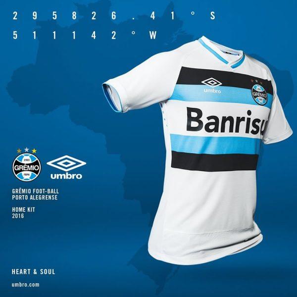 Nueva camiseta suplente de Gremio para 2016 | Foto Umbro Brasil