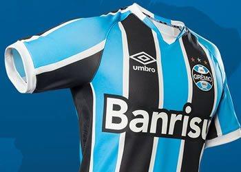 Nueva camiseta titular de Gremio para 2016 | Foto Umbro Brasil