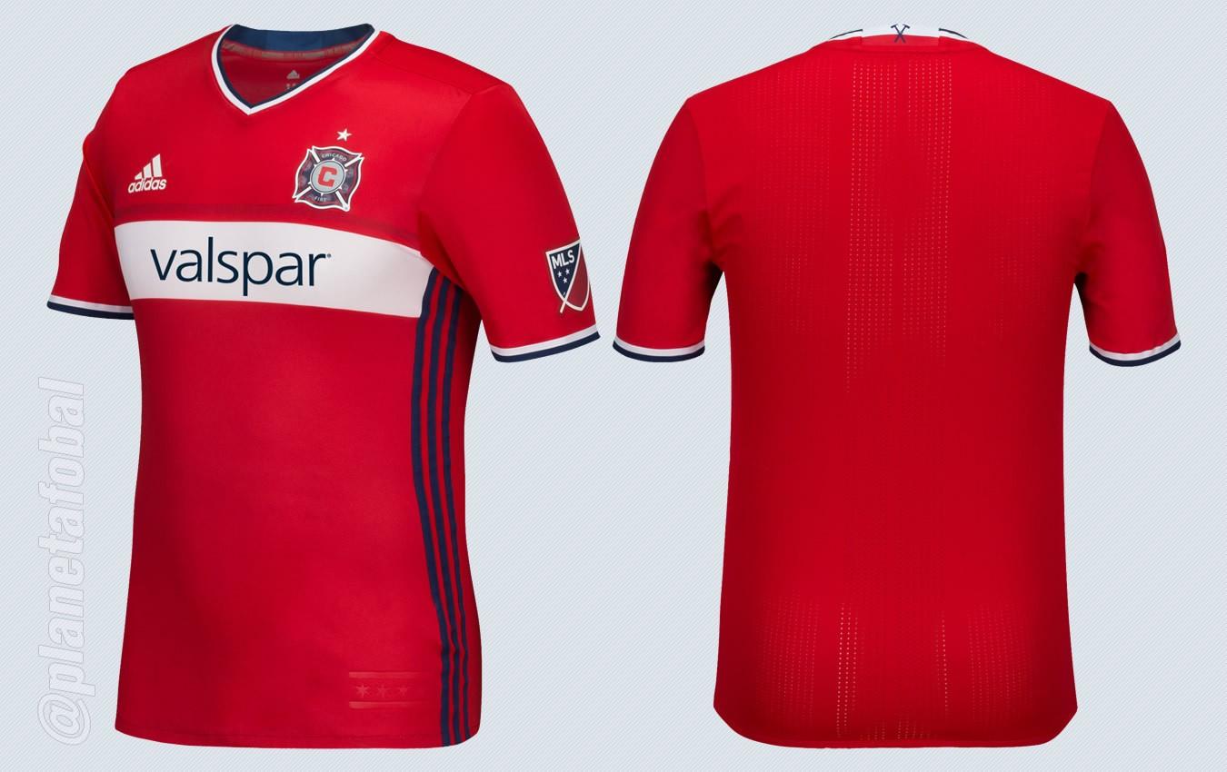 Nueva camiseta titular Adidas de Chicago Fire | Imágenes Tienda Oficial