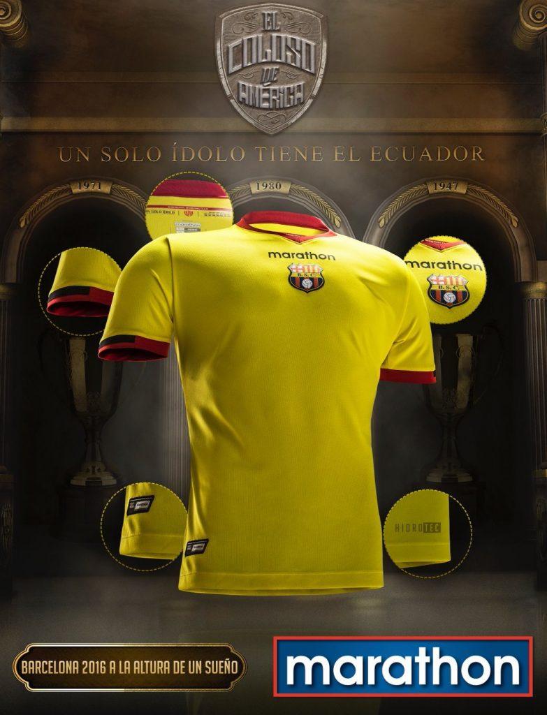 Camisetas Marathon del Barcelona de Ecuador 2016 | Planeta Fobal