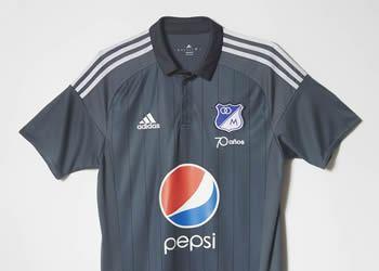 Nueva camiseta suplente Adidas de Millonarios para 2016 | Foto Tienda Oficial