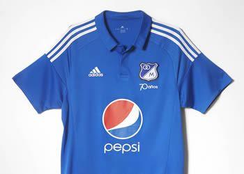 Nueva camiseta titular Adidas de Millonarios para 2016 | Foto Tienda Oficial