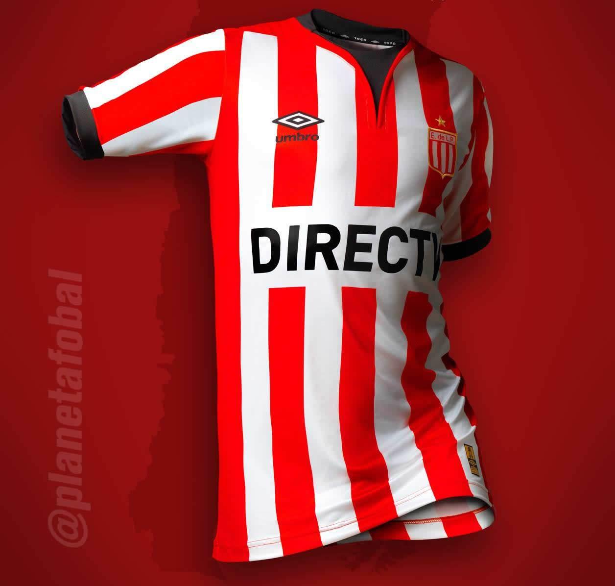 Nueva camiseta Umbro de Estudiantes de La Plata para 2016 | Foto Twitter @EdelpOficial