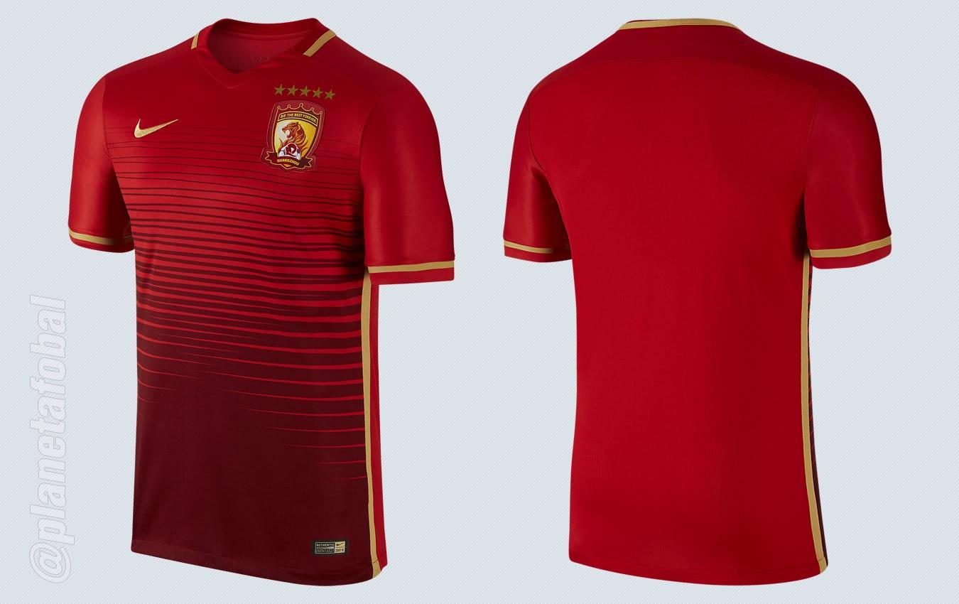 Camiseta titular del Guangzhou Evergrande para 2016 | Imágenes Nike