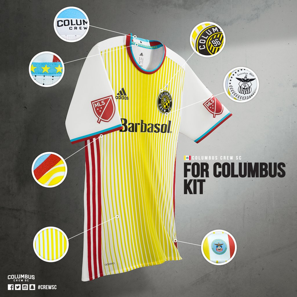 Nueva casaca del Columbus Crew | Foto Web Oficial