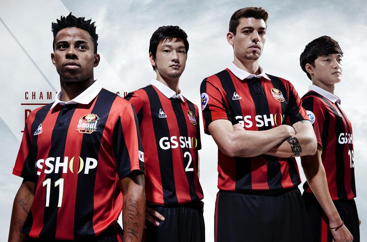 Camiseta titular del FC Seoul para la AFC Champions League 2016 | Foto Le Coq Sportif