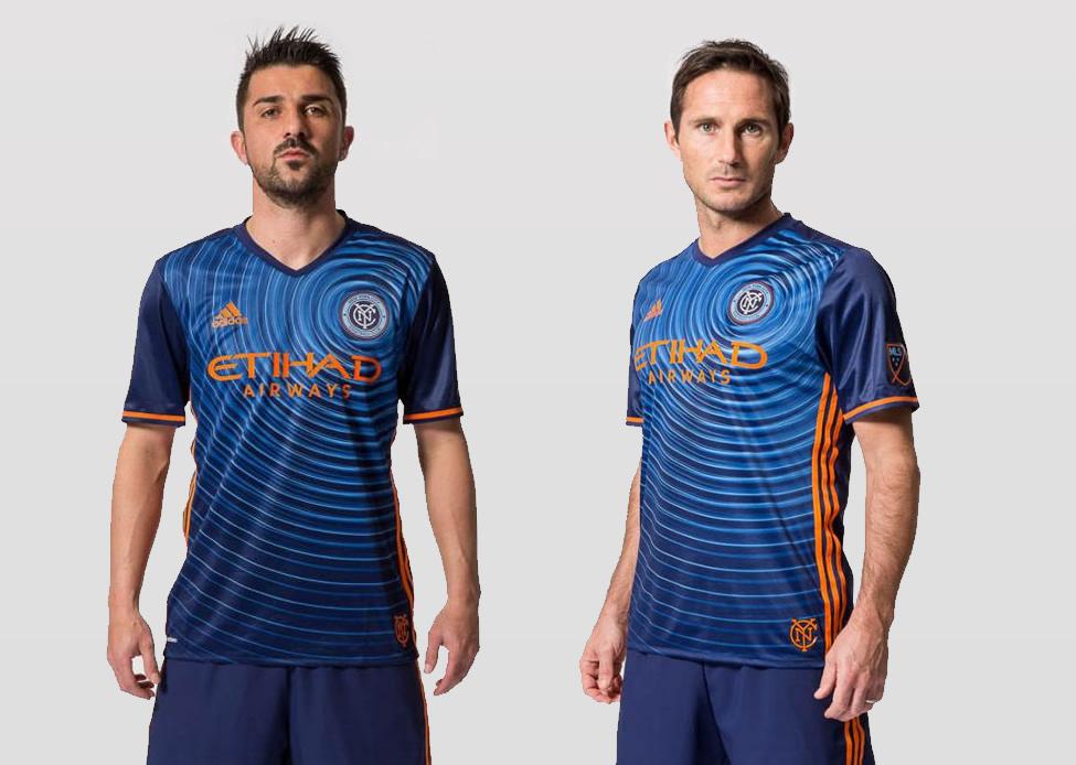 Villa y Lampard con la nueva camiseta suplente del New York City | Foto Web Oficial