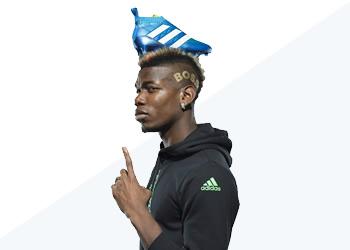 Pogba con los nuevos colores de los ACE16 | Foto Adidas
