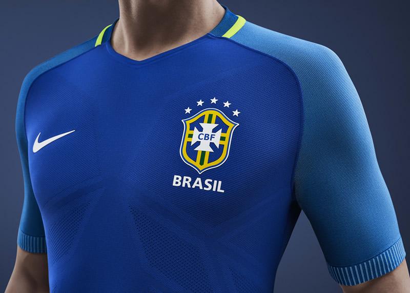 Camiseta suplente de Brasil  97ebfe8fc3482