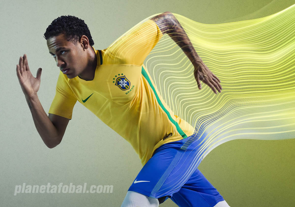 Neymar con la camiseta titular de Brasil | Foto Nike