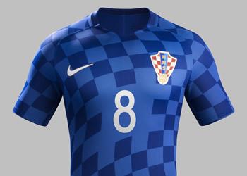 Camiseta suplente de Croacia | Foto Web Oficial