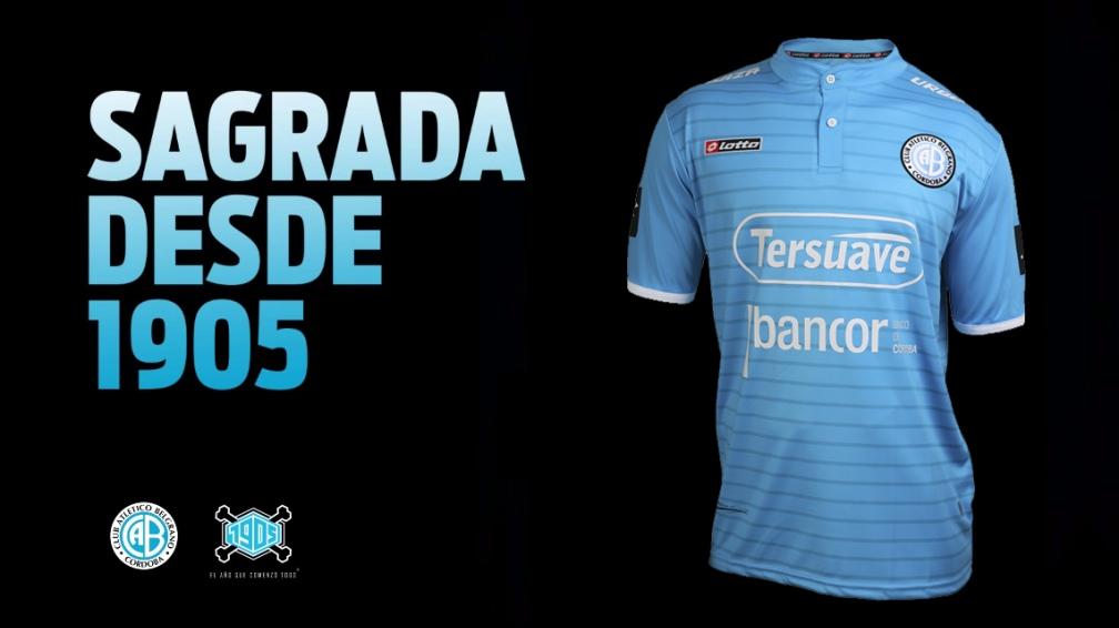 La camiseta titular de Belgrano | Foto Web Oficial