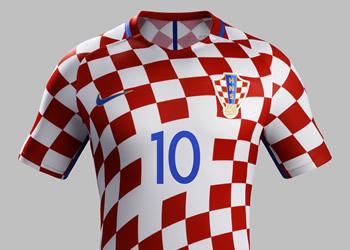 Camiseta titular de Croacia | Foto Web Oficial