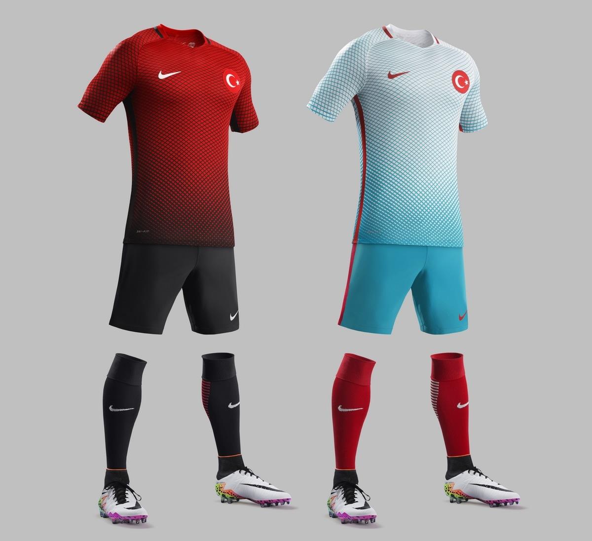 Camisetas Nike de Turquía Euro 2016 | Planeta Fobal