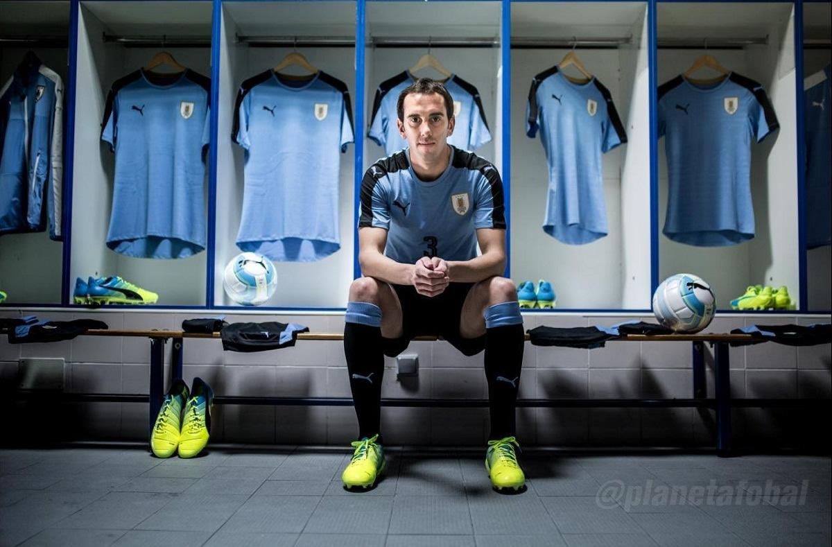 Diego Godín con la nueva casaca | Foto Puma