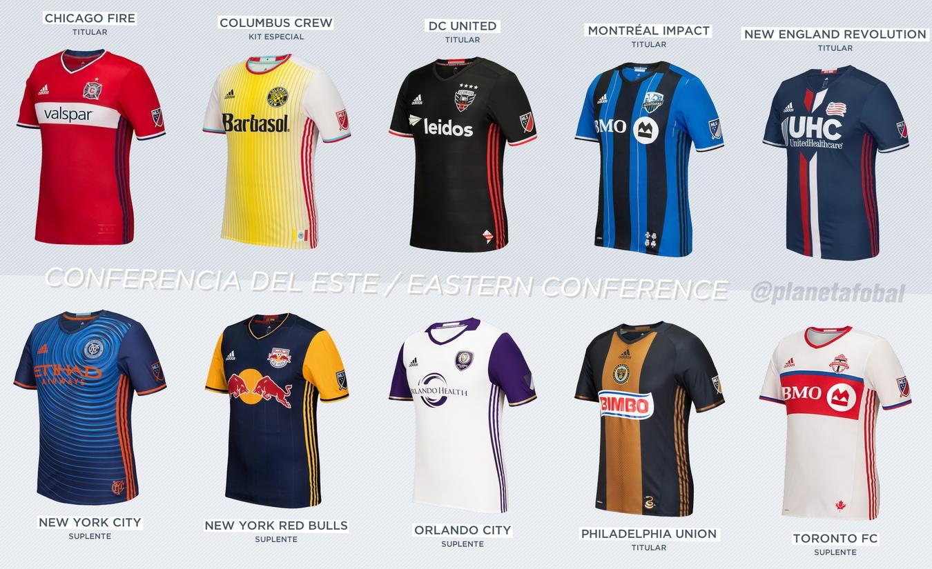 Las camisetas de la Conferencia Este | Imágenes Web MLS