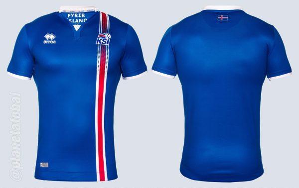 Camiseta titular de Islandia | Imágenes Errea