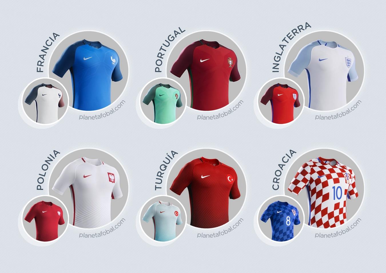 Todos los kits de Nike para la Euro de Francia 2016