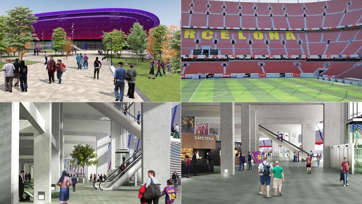 Nuevo Camp Nou del Barcelona   Foto Web Oficial