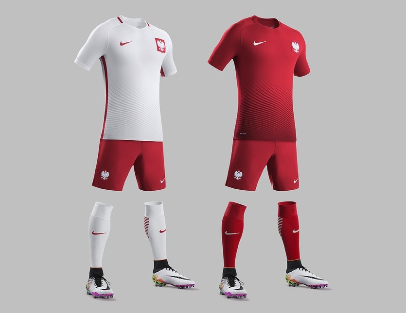 Los kits completos de Polonia   Foto Nike