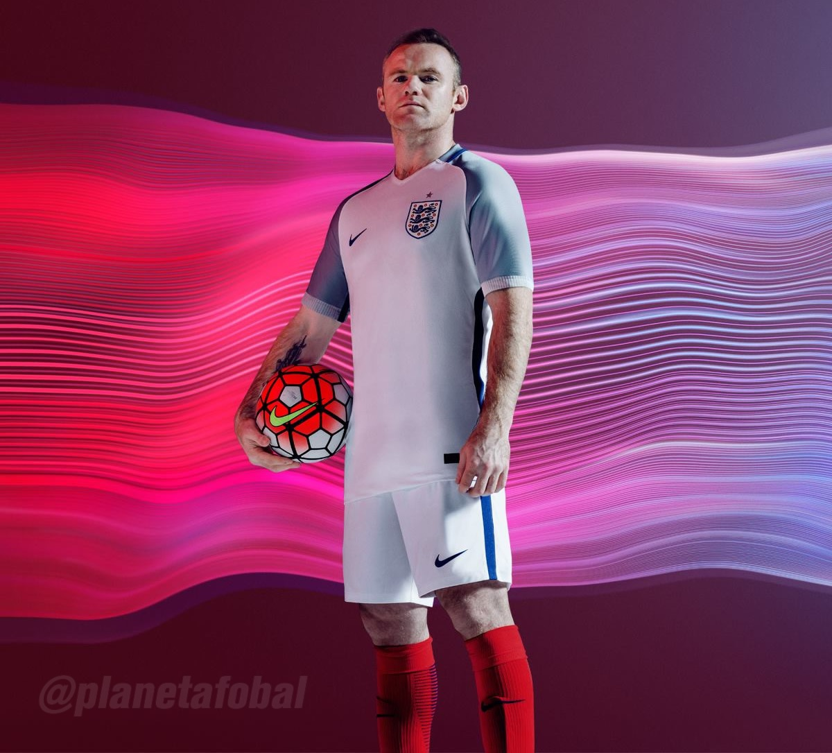 Camiseta titular Nike de Inglaterra Euro 2016 ec48bcb2ea34c