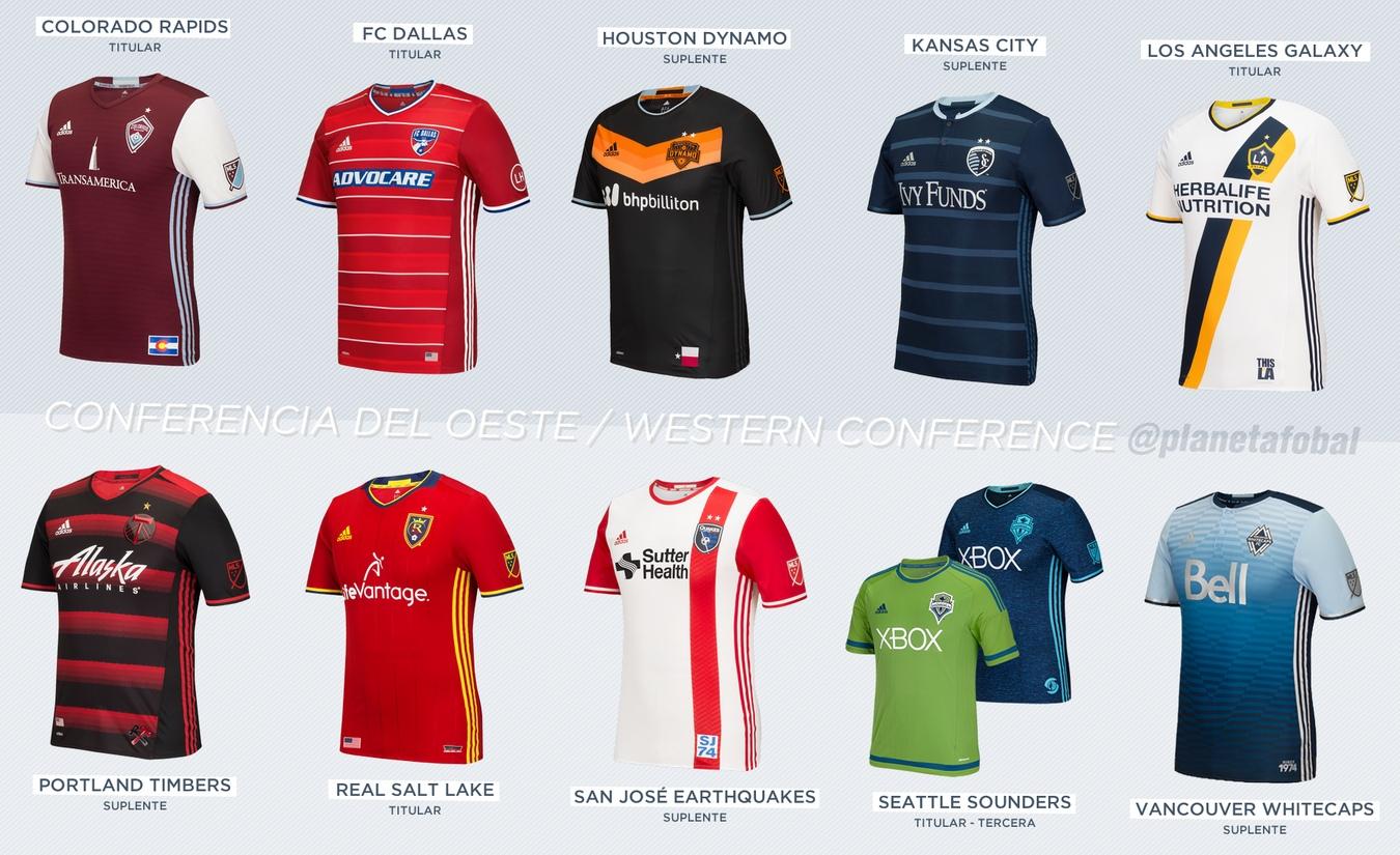 Las camisetas de la Conferencia Oeste | Imágenes Web MLS