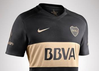 Camiseta negra de Boca   Foto Nike
