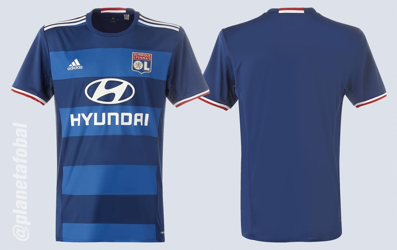 Camiseta suplente del Olympique Lyon para 2016/2017   Imágenes Web Oficial
