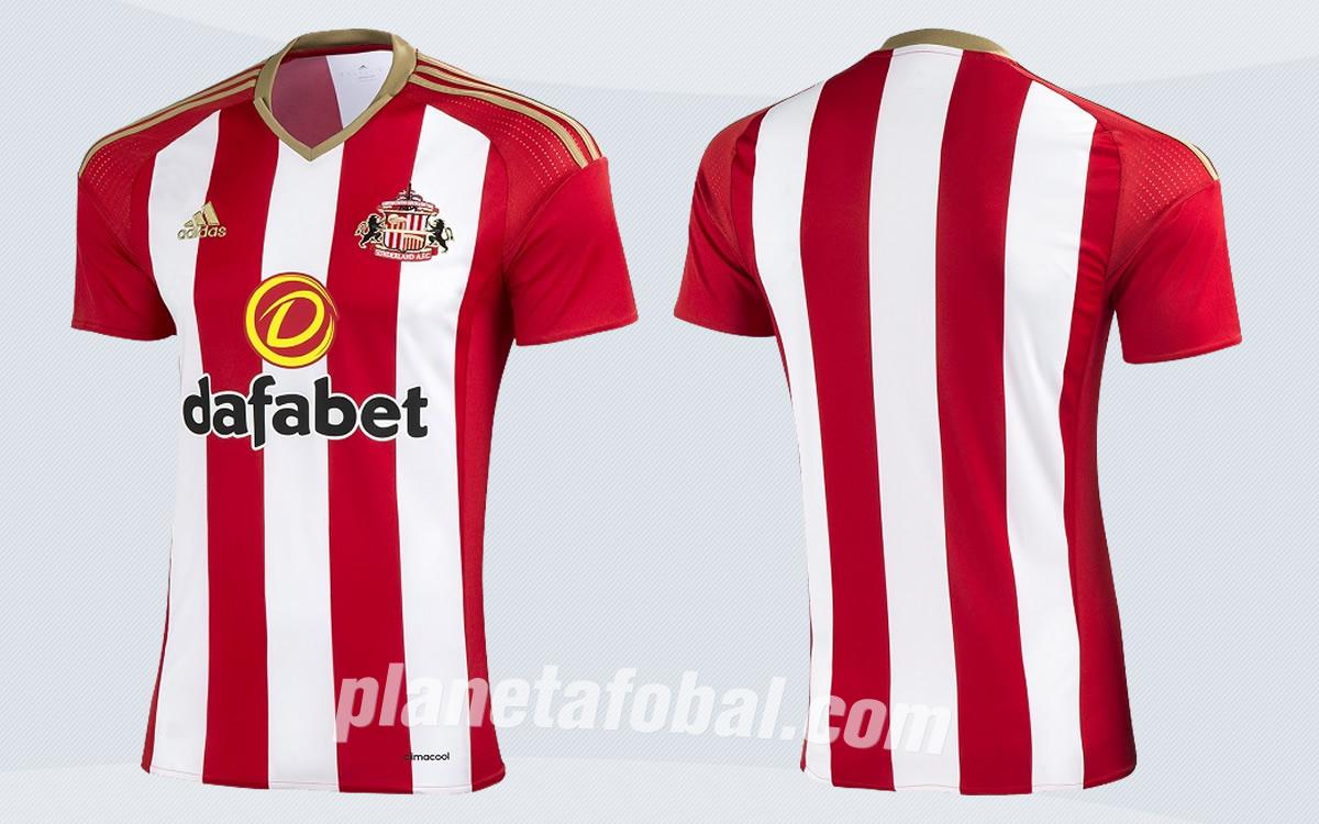 Nueva camiseta titular Adidas del Sunderland AFC 2016/2017 | Imágenes Web Oficial