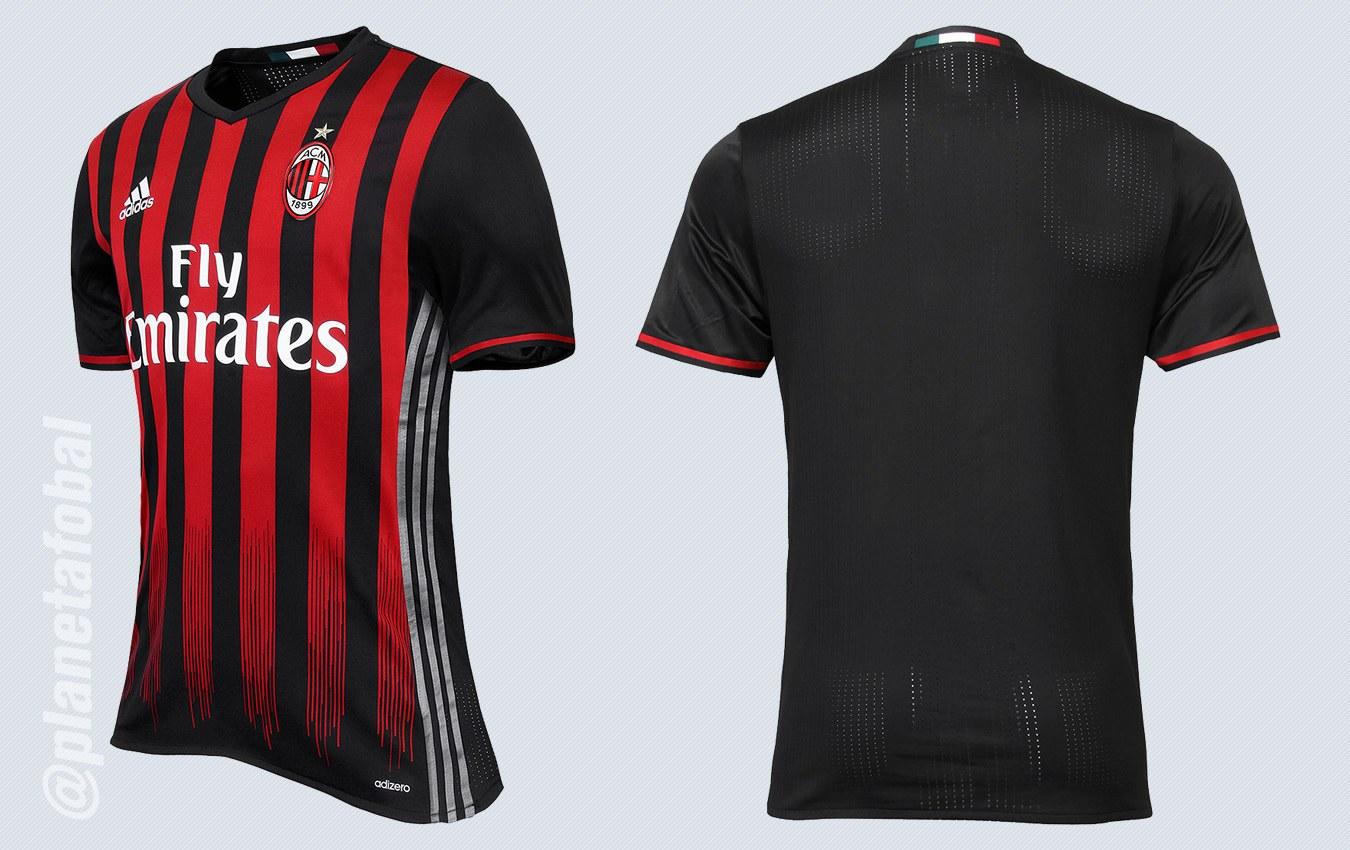 Nueva camiseta del Milan | Imágenes Web Oficial