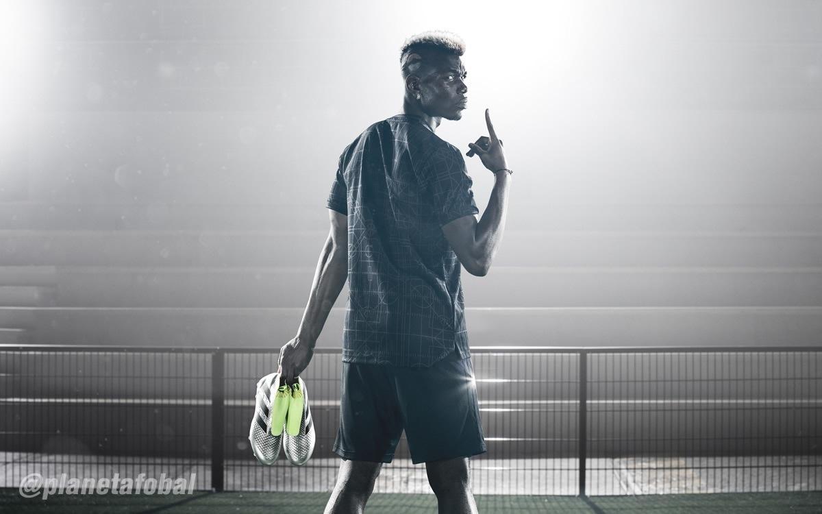 Pogba con los nuevos botines ACE16+ PURECONTROL | Foto Adidas