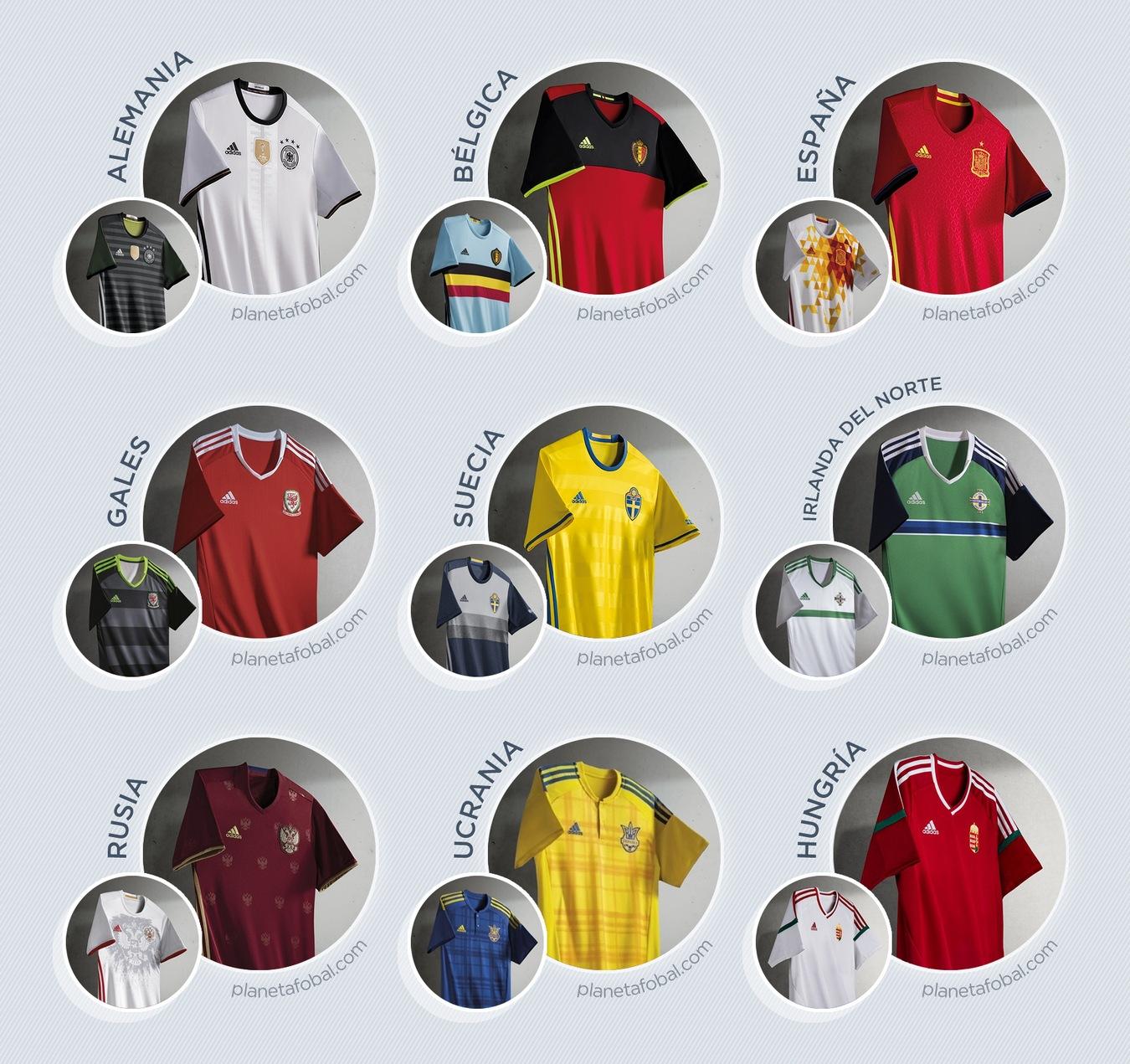 Todos los kits de Adidas para la Euro de Francia 2016
