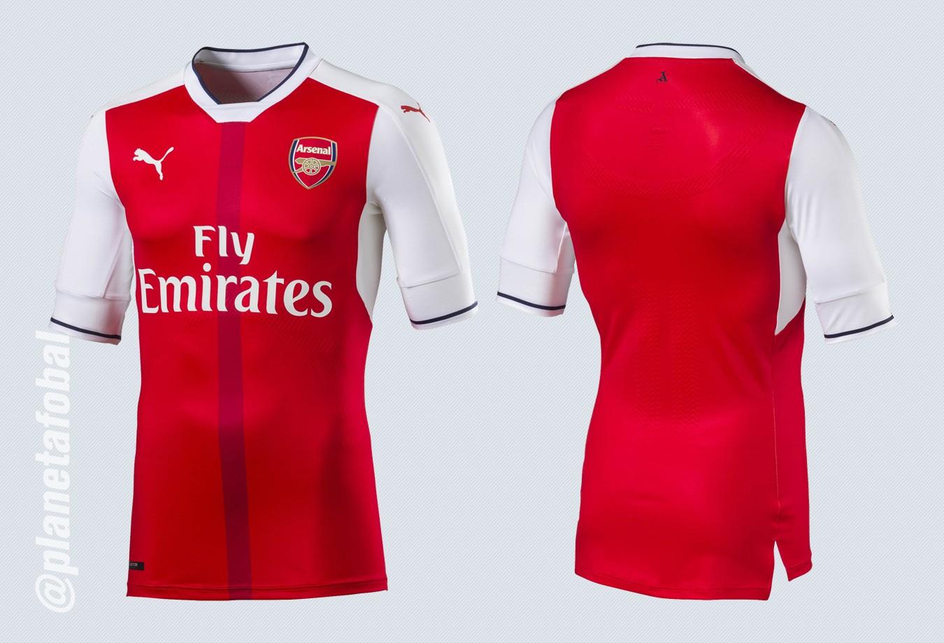 Nueva camiseta del Arsenal | Imágenes Puma