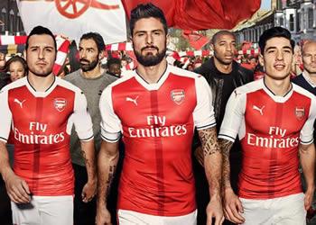Nueva camiseta del Arsenal | Foto Puma