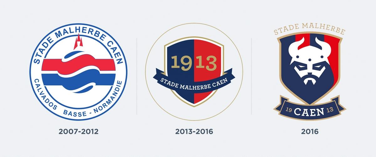 Los últimos 3 escudos del Caen