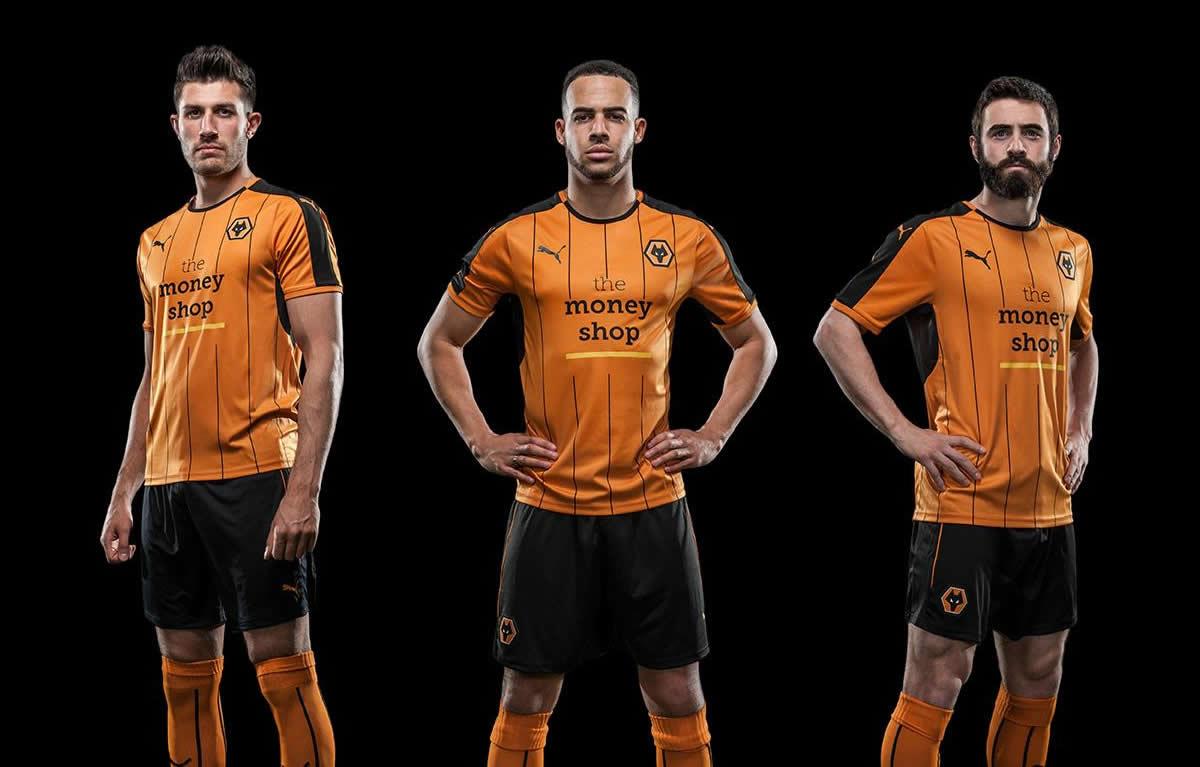 Nueva camiseta titular Puma del Wolverhampton | Foto web oficial