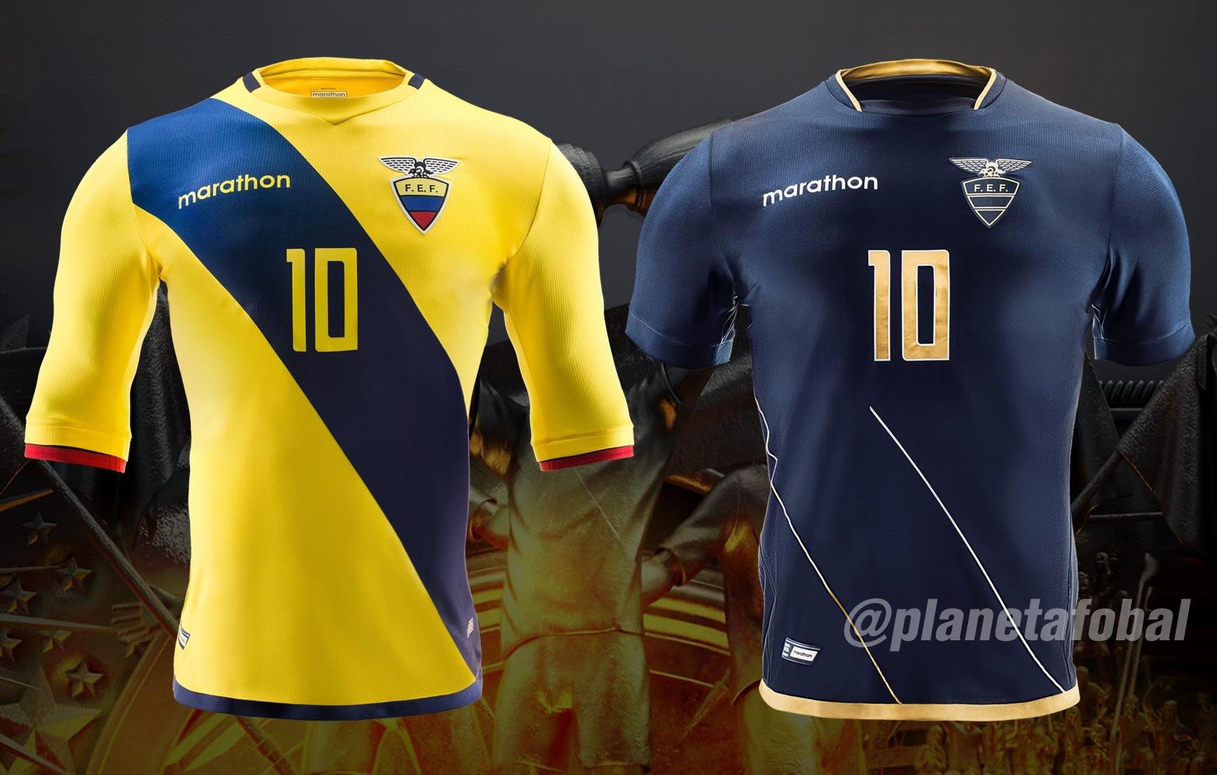 Nuevas camisetas de Ecuador | Foto Marathon