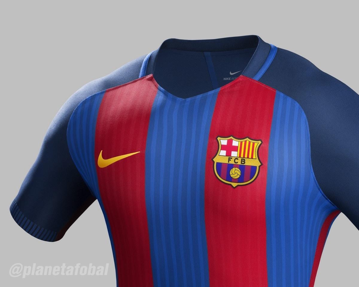 Camiseta titular Nike del Barcelona 2016/2017   Planeta Fobal