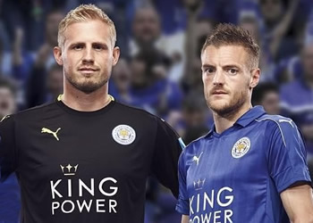 Camiseta titular del Leicester City 2016/2017   Foto Instagram Oficial