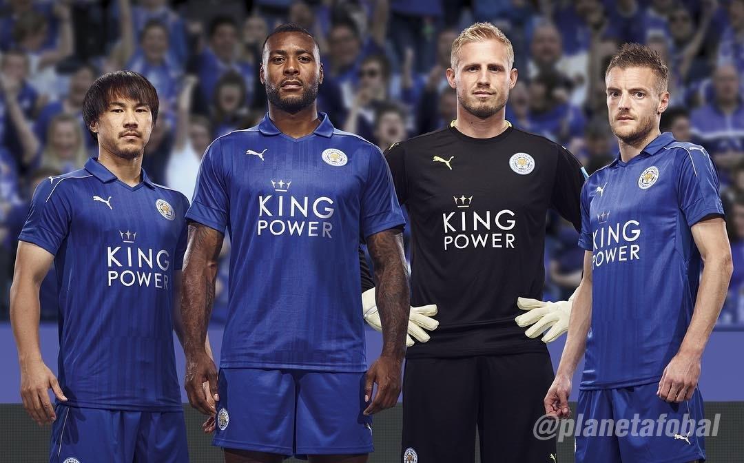 Camiseta titular del Leicester City 2016/2017 | Foto Instagram Oficial