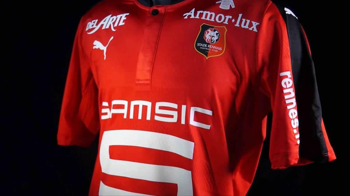 Casaca titular del Stade Rennais | Foto Web Oficialq