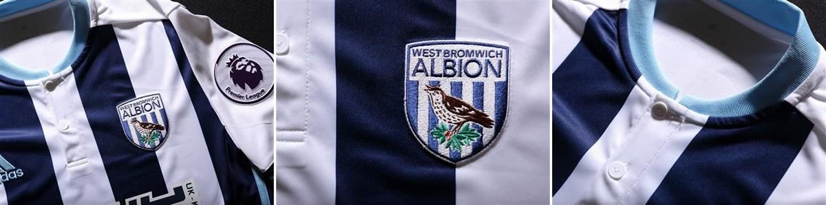 Camiseta titular del West Bromwich | Imágenes Web Oficial