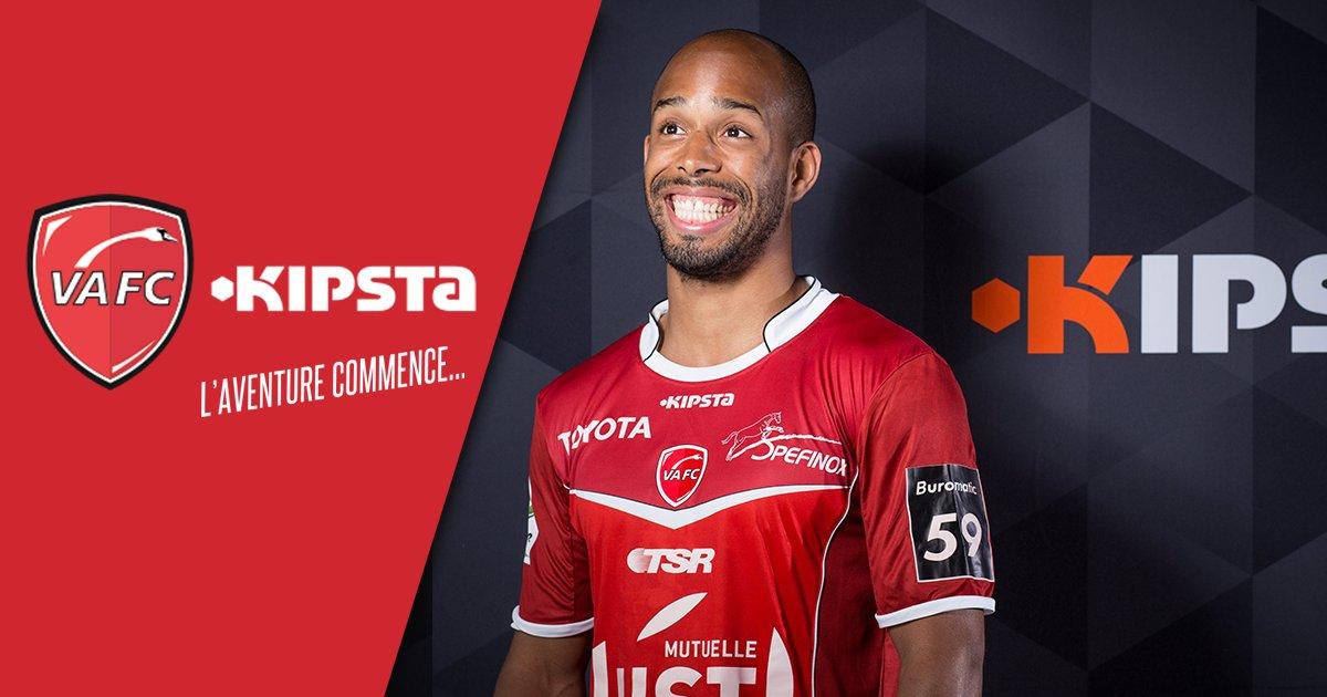 Camiseta titular Kipsta del Valenciennes FC para 2016/2017 | Foto web oficial