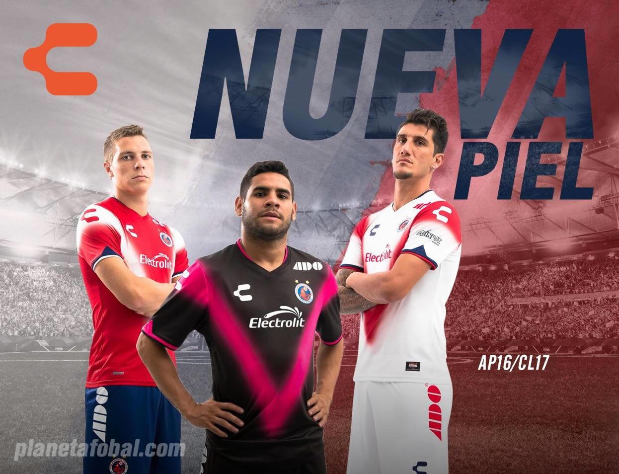 Camisetas de los Tiburones Rojos de Veracruz para 2016/2017 | Foto Charly Fútbol