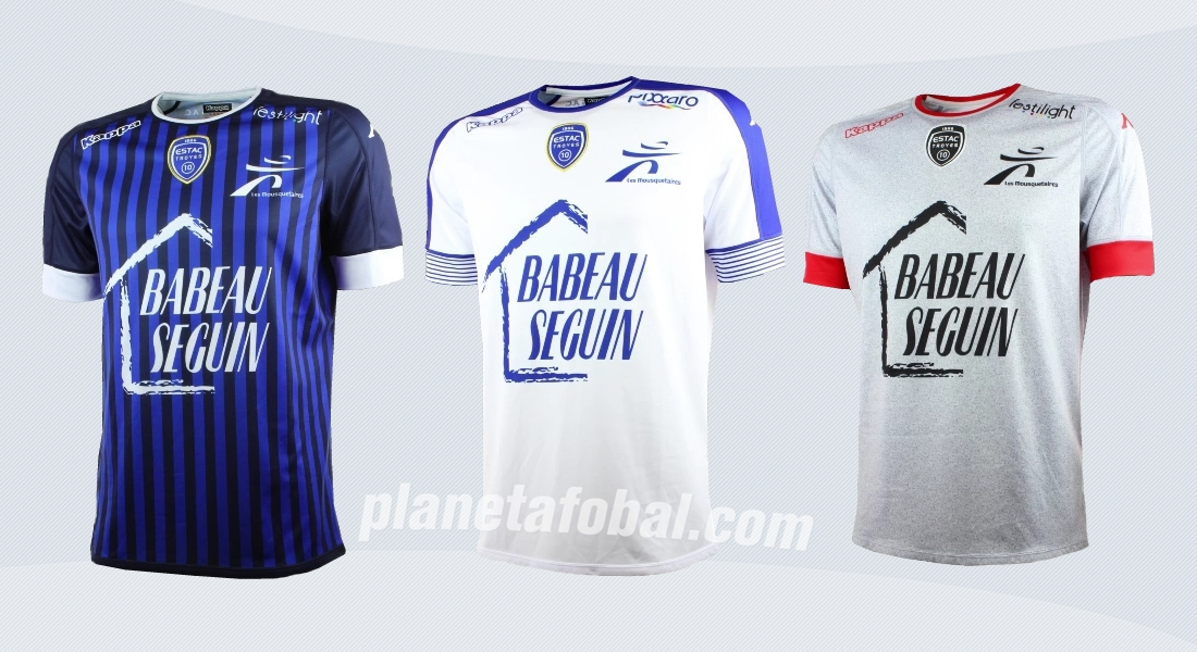 Camisetas Kappa del ES Troyes de Francia para 2016/2017 | Imágenes web oficial