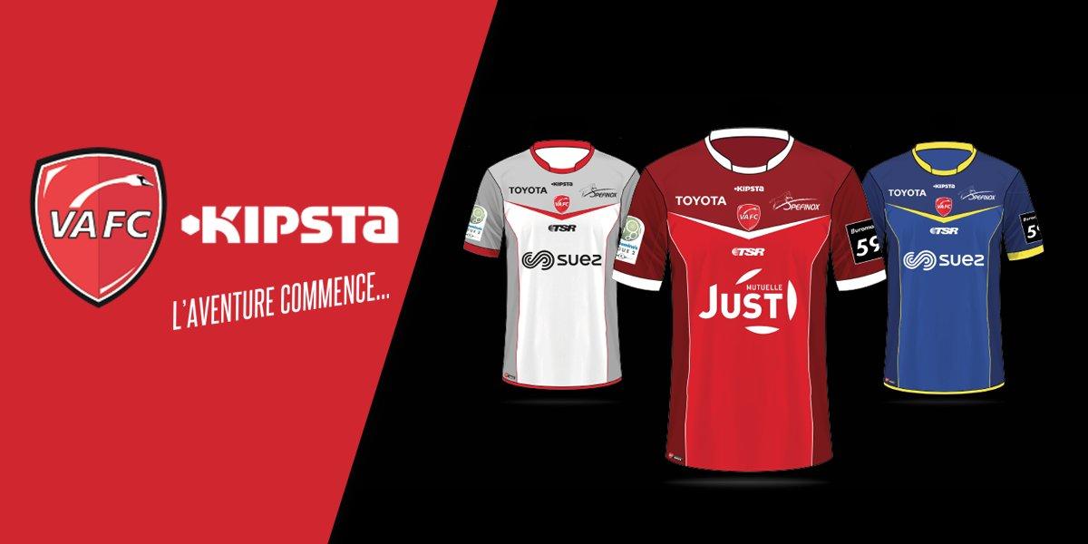 Camisetas Kipsta del Valenciennes FC para 2016/2017 | Foto web oficial