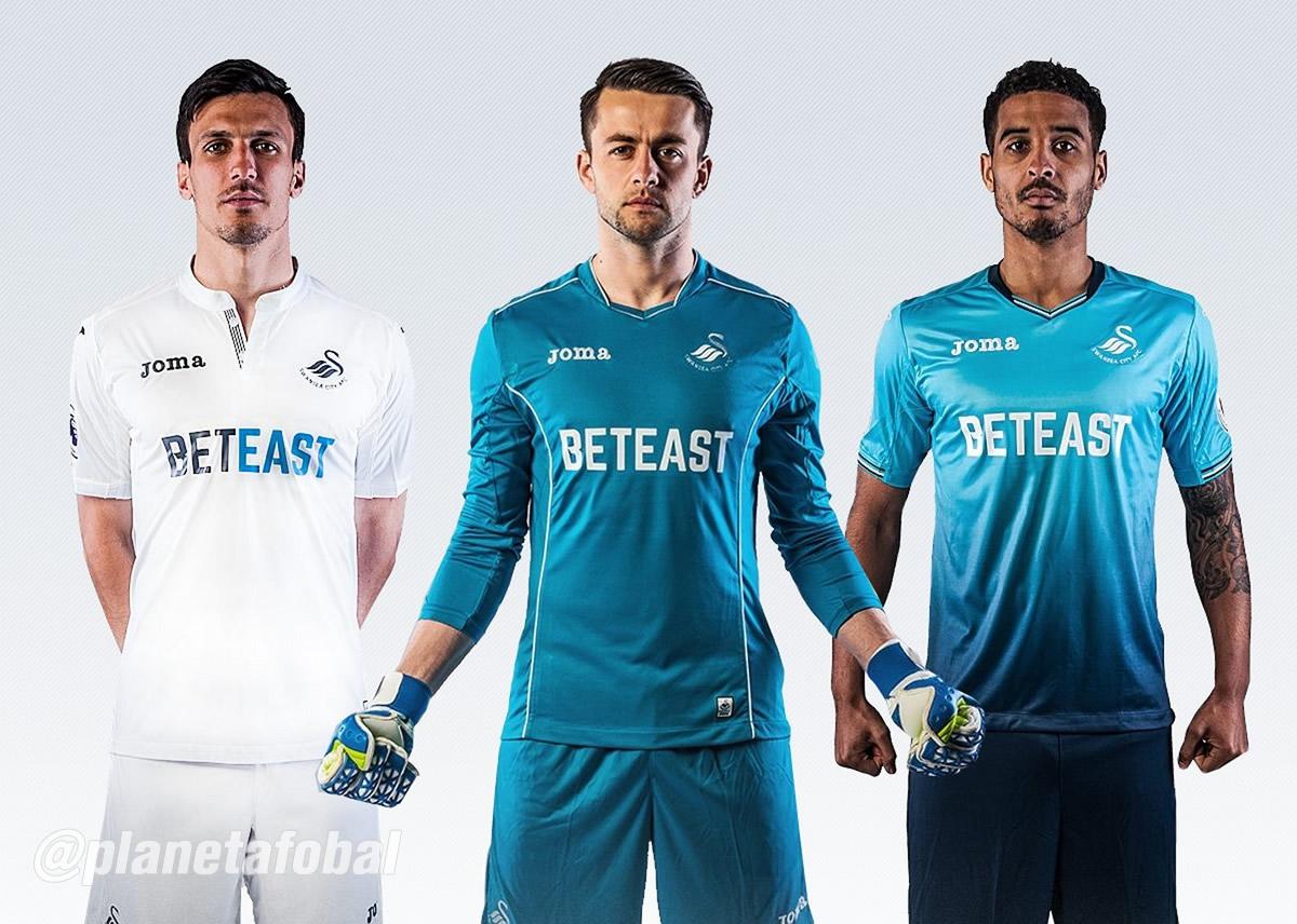 Nuevas casacas del Swansea City | Foto Web Oficial