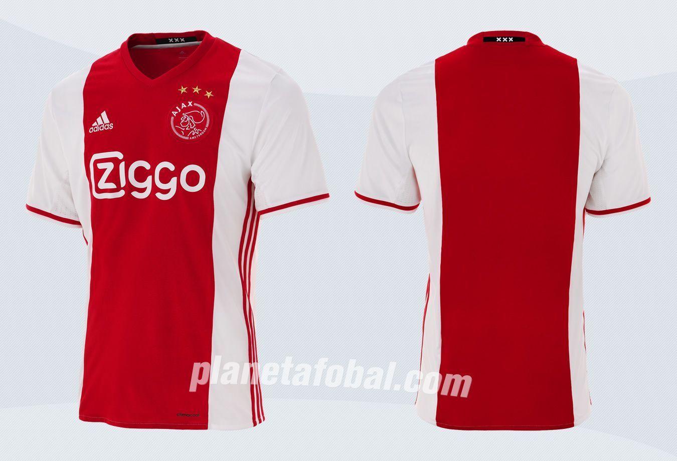 Camiseta titular del Ajax | Imágenes Web Oficial