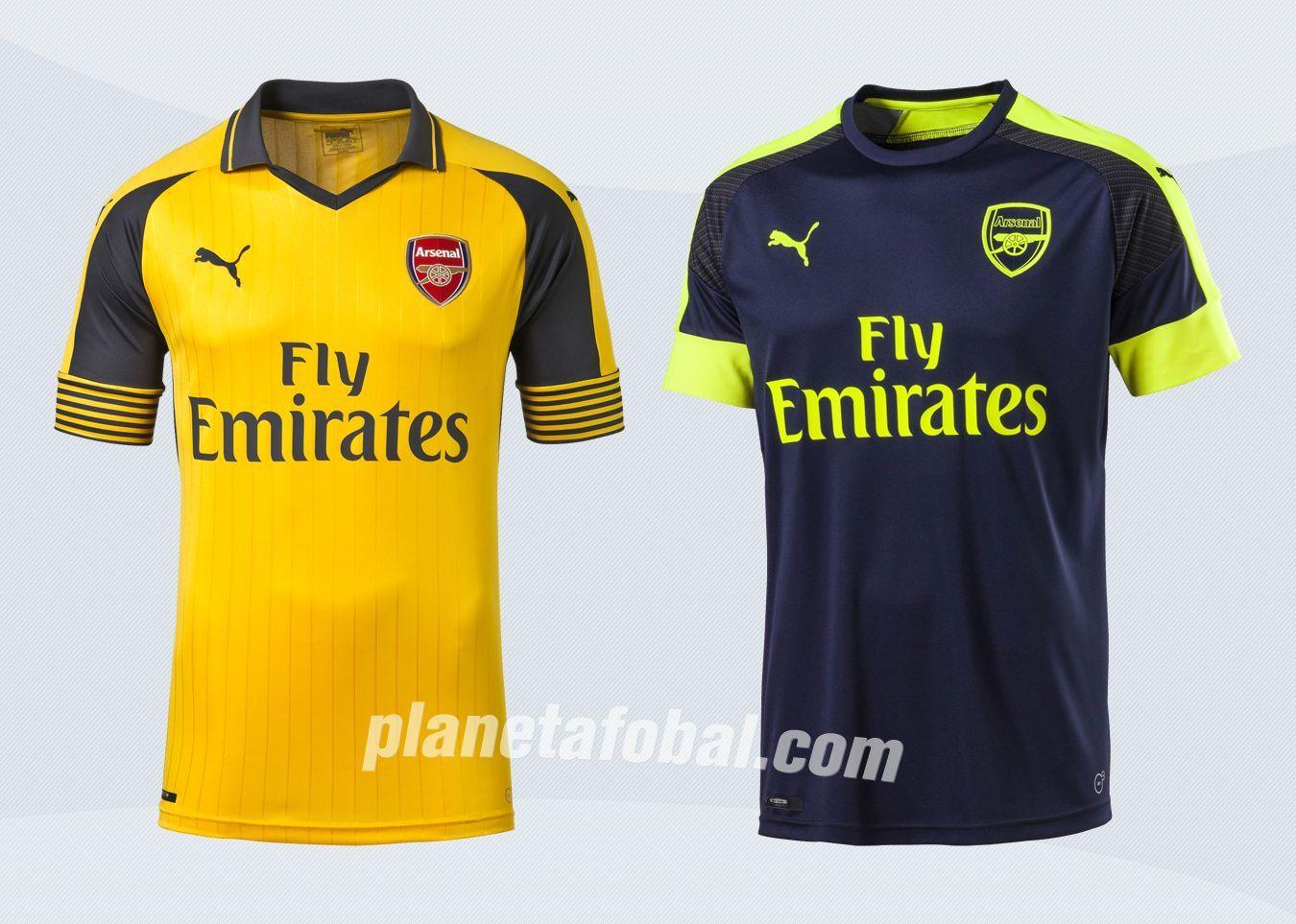 Camiseta suplente y tercera del Arsenal | Imágenes Puma