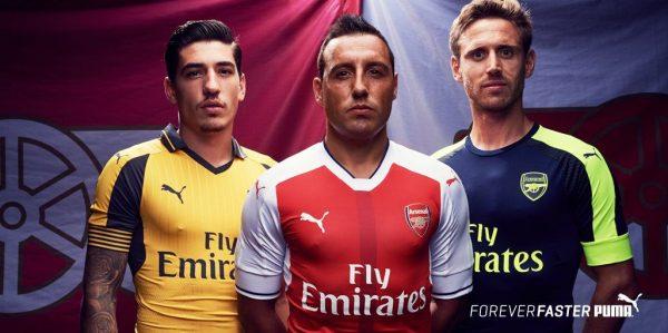 Las casacas que usará el Arsenal | Foto Web Oficial